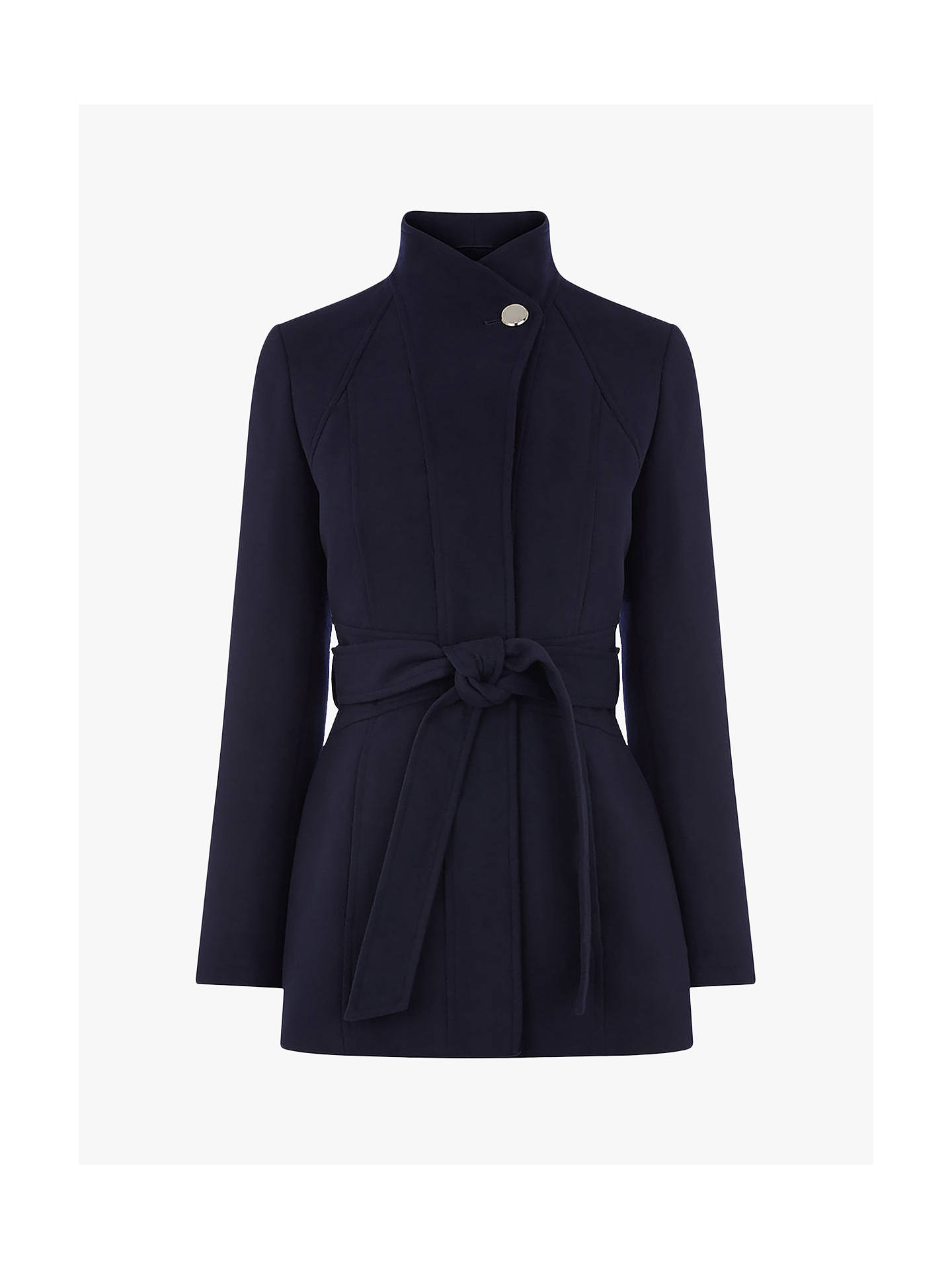 a2b844d8d7ef ... Buy Oasis Panel Fitted Coat, Navy, S Online at johnlewis.com ...