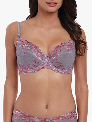 Wacoal Embrace Lace Underwired Bra, Lilac Grey/Multi