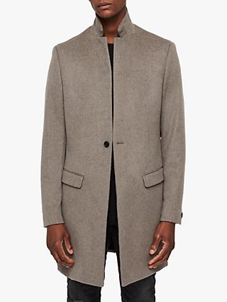 AllSaints Bodell Coat, Oatmeal Brown