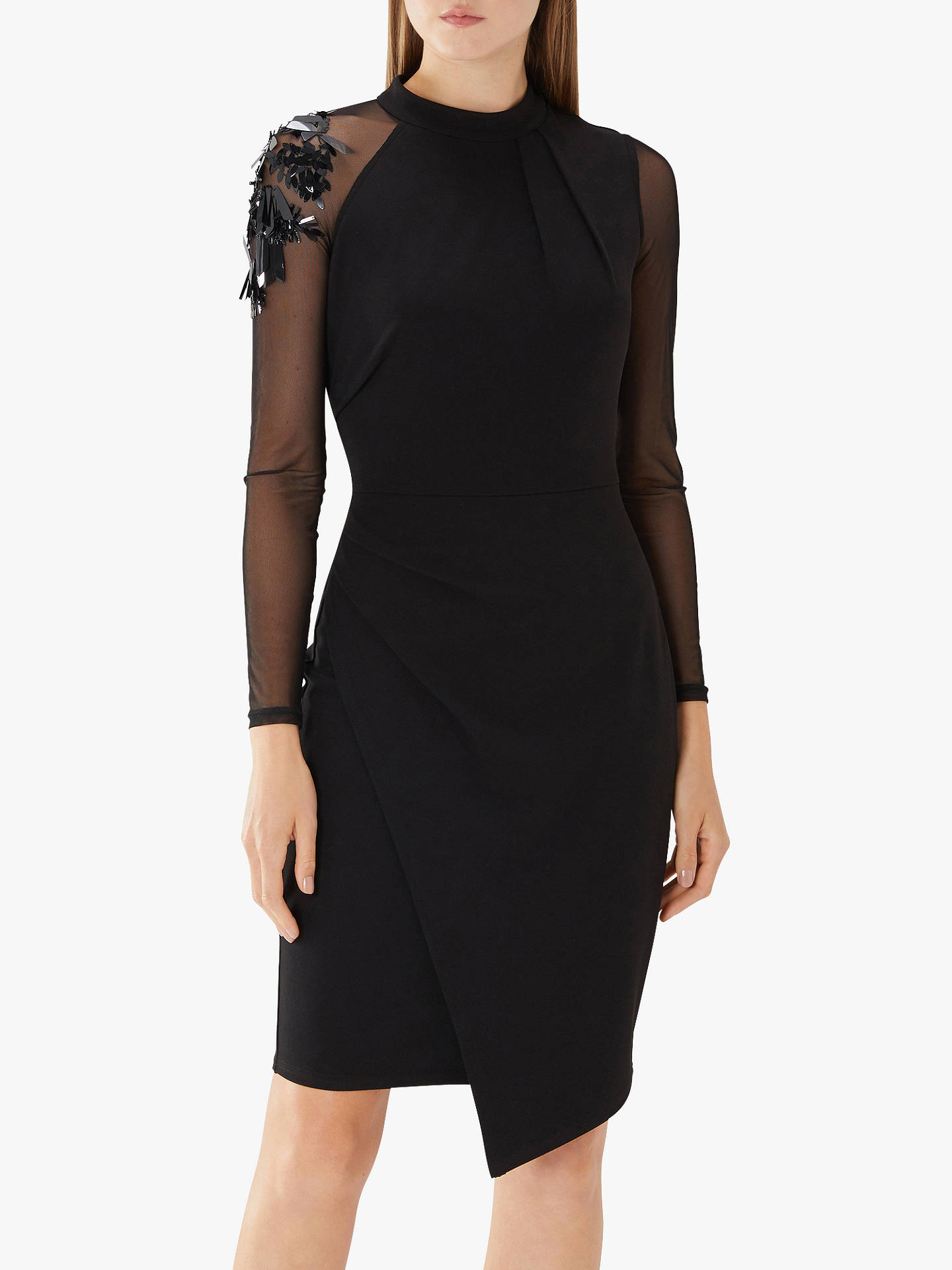b19c79179cc5 Buy Coast Torville Cocktail Embellished Dress, Black, 6 Online at  johnlewis.com ...