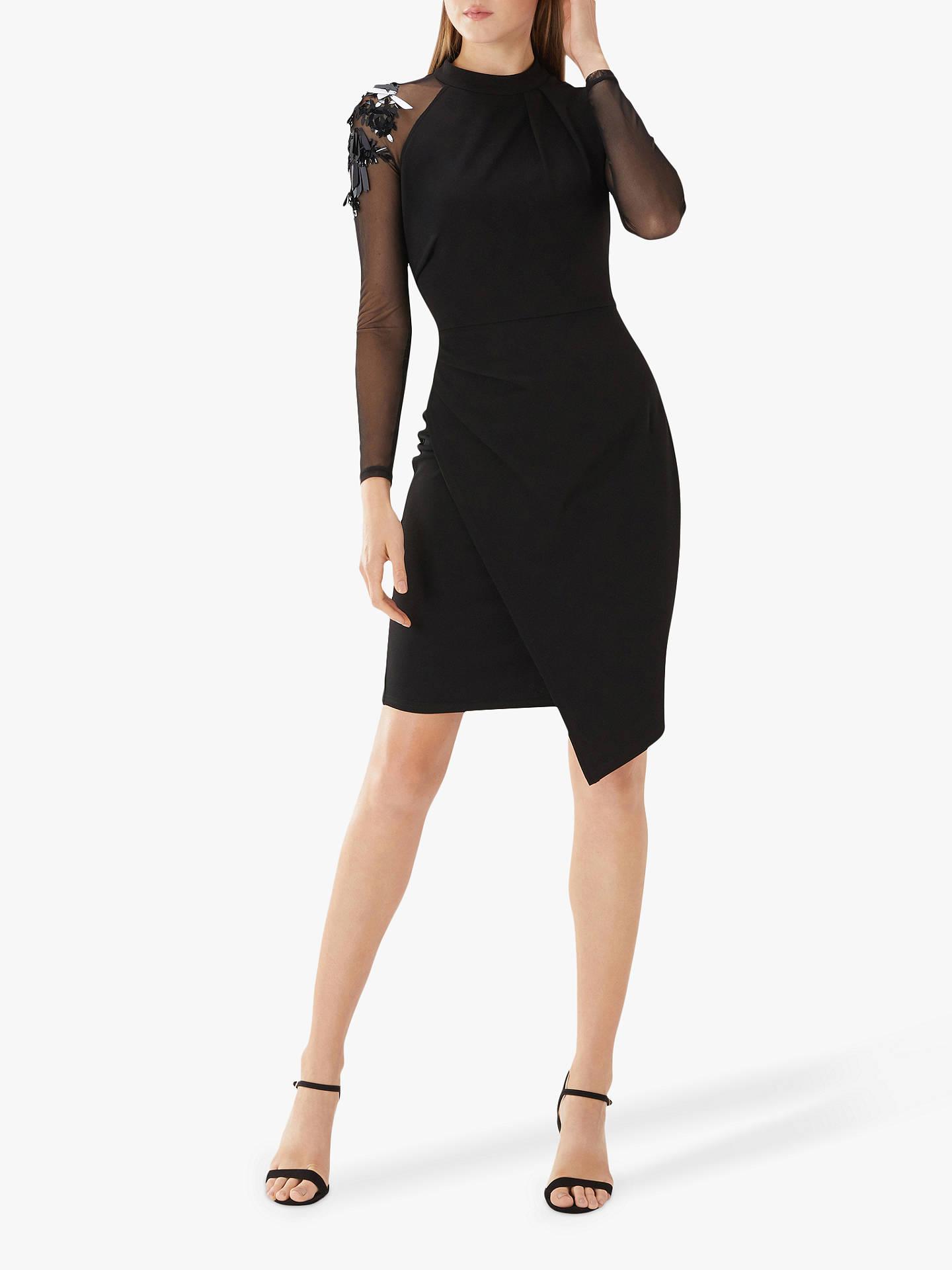 790cc192d691 ... Buy Coast Torville Cocktail Embellished Dress, Black, 6 Online at  johnlewis.com ...