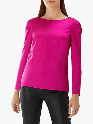 Coast Cara Long Sleeve Top, Fuchsia
