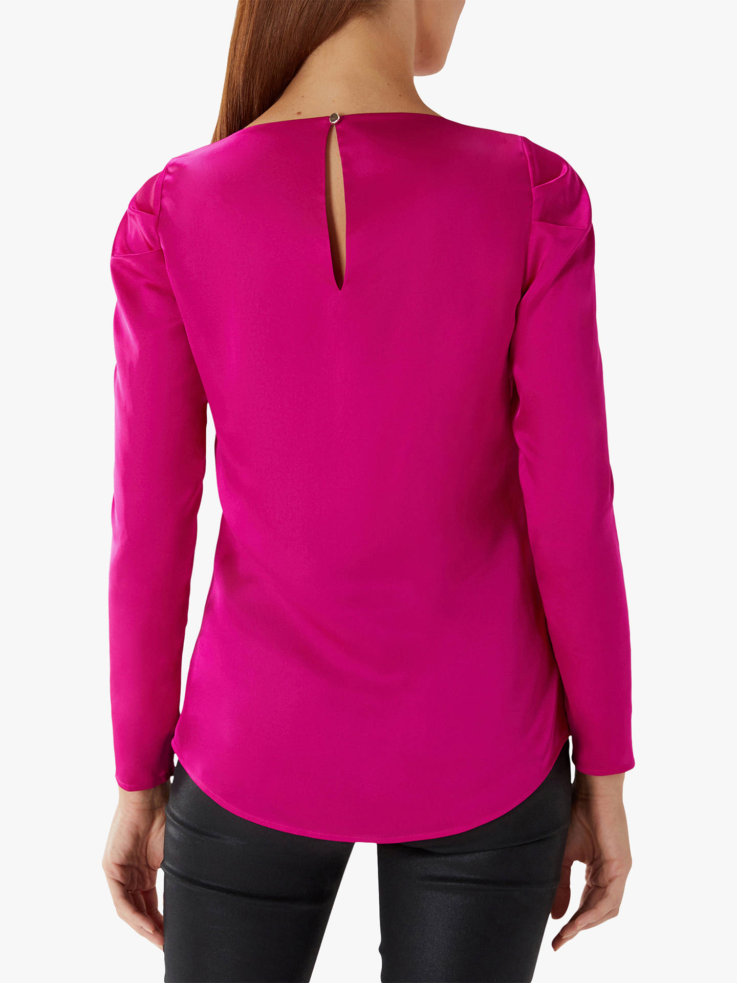 BuyCoast Cara Long Sleeve Top, Fuchsia, 6 Online at johnlewis.com