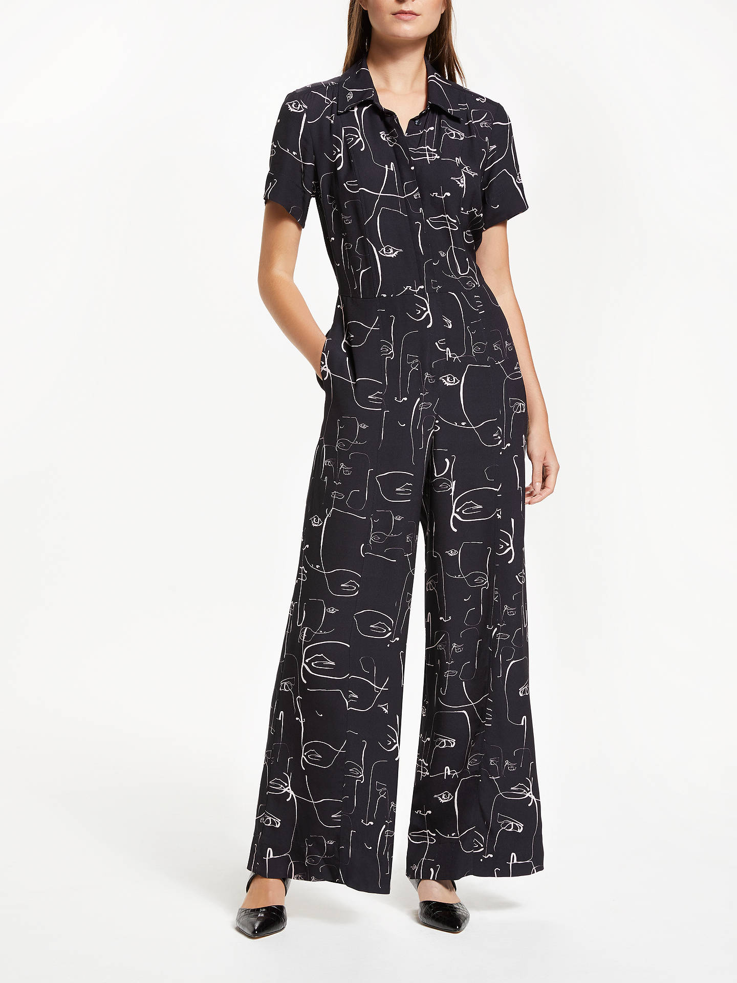 f1eed7a955c2 Buy Finery Alida Wide Leg Abstract Print Jumpsuit