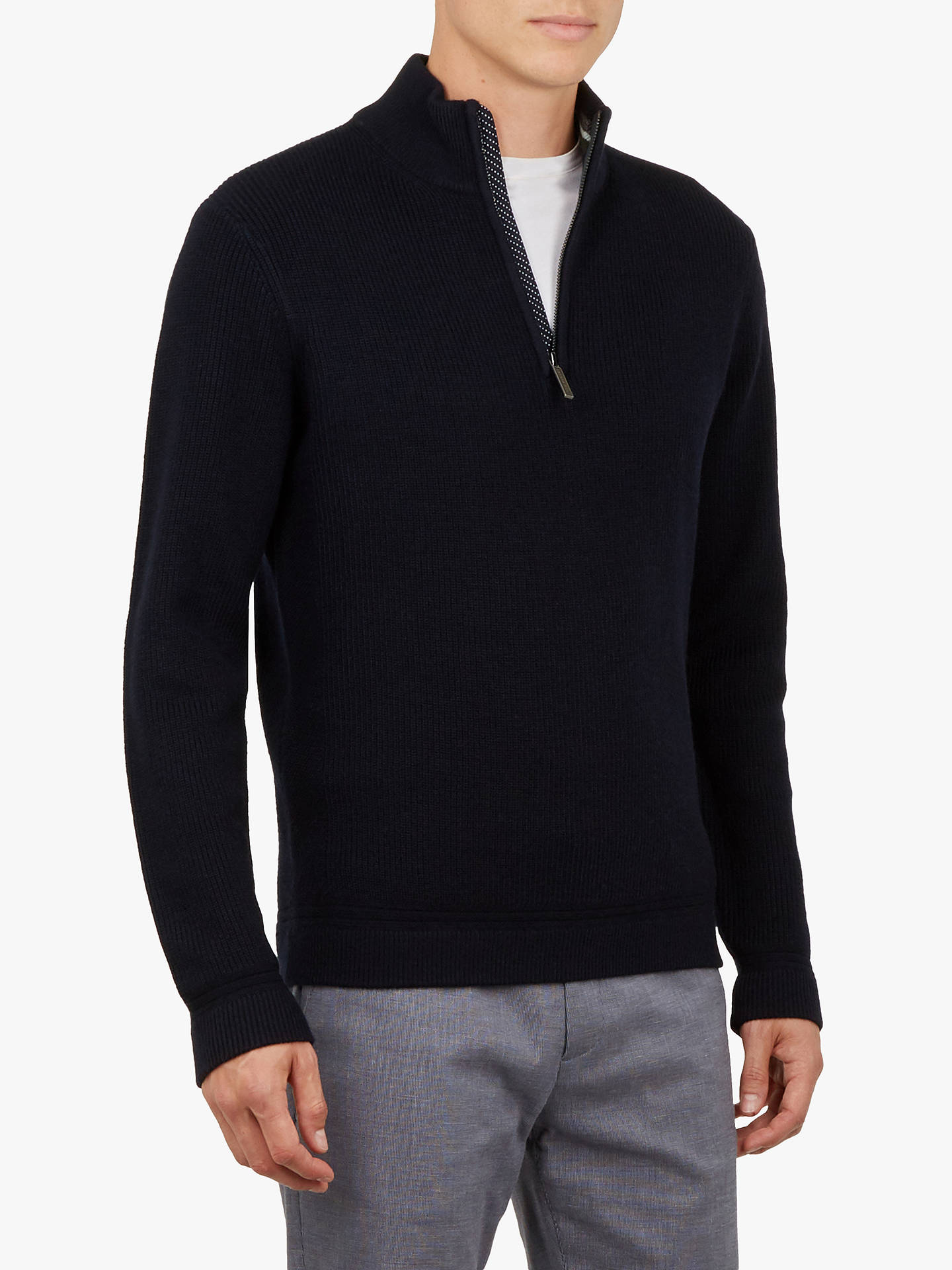 cc94cf85898 Ted Baker Lohas Half Zip Funnel Neck Sweatshirt at John Lewis & Partners