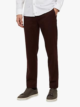 Ted Baker Weyman Trousers, Dark Red