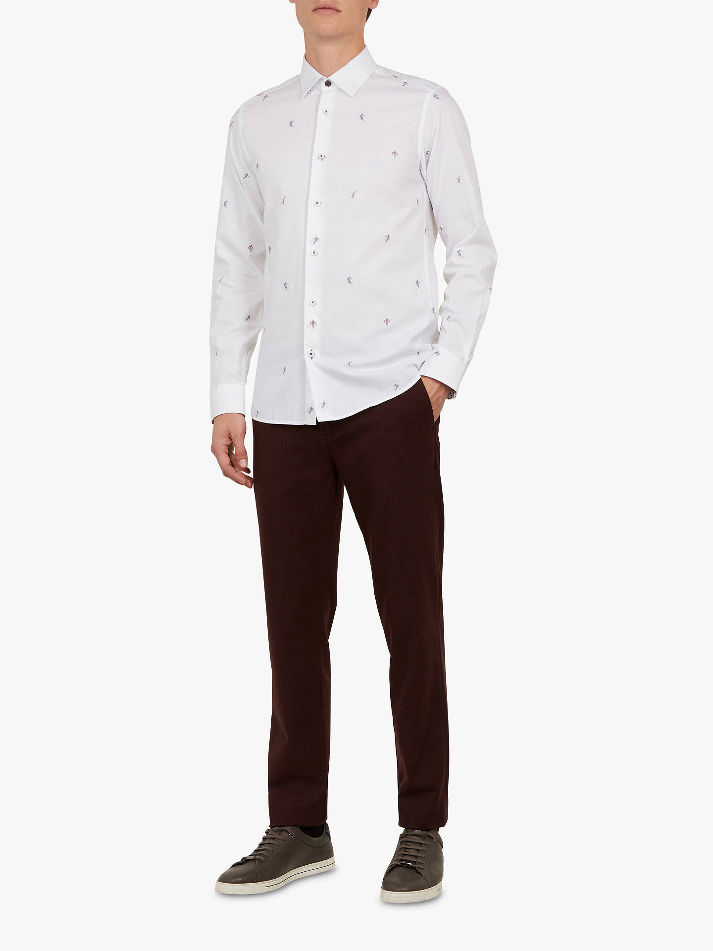 BuyTed Baker Weyman Trousers, Dark Red, 32S Online at johnlewis.com