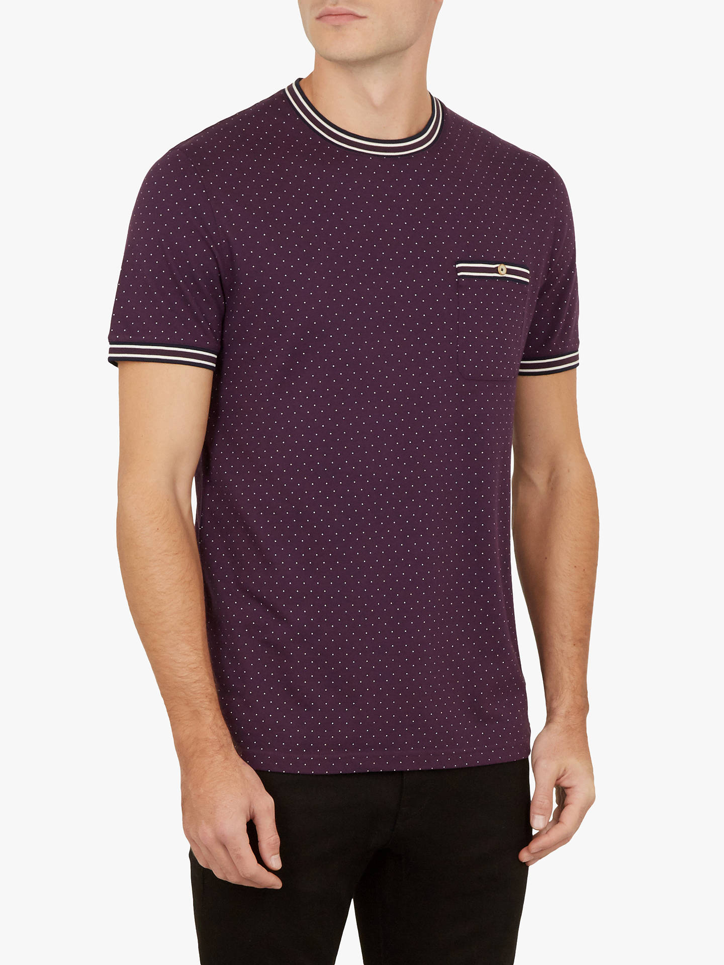 BuyTed Baker Glaad Print T-Shirt, Purple, M Online at johnlewis.com