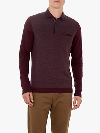 Ted Baker Friend Diamond Pattern Polo Shirt