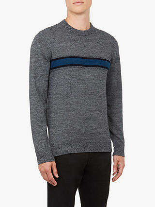 Buy Ted Baker Hurrie Crew Neck Loop Jumper, Mid Grey, M Online at johnlewis.com