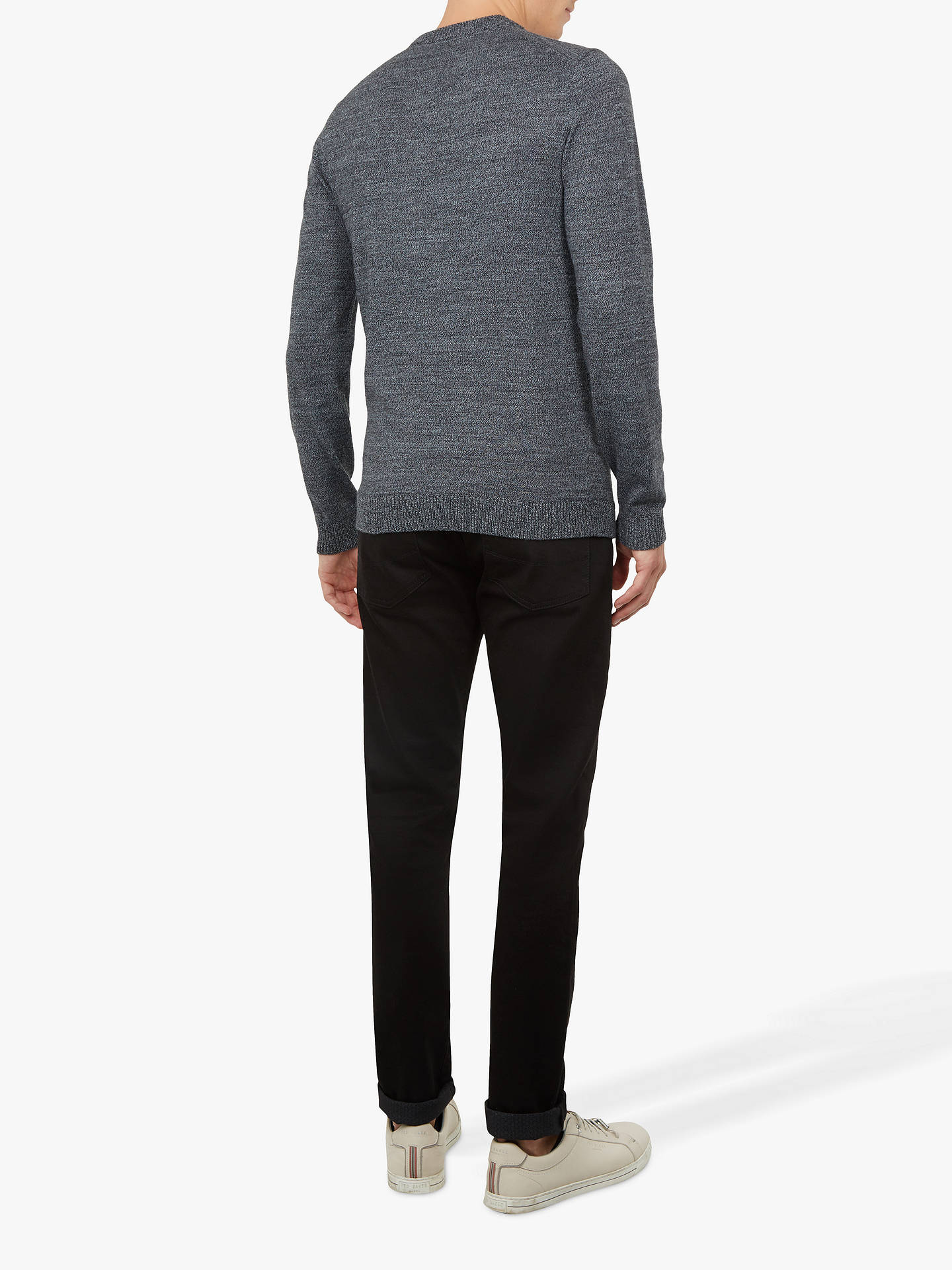 Buy Ted Baker Hurrie Crew Neck Loop Jumper, Mid Grey, XL Online at johnlewis.com