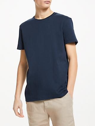 Kin Interlock Cotton T-Shirt, Navy