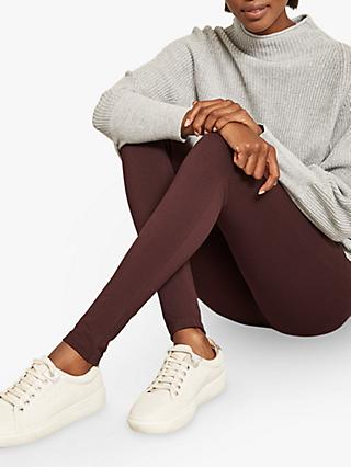 Mint Velvet Straight Leggings, Burgundy