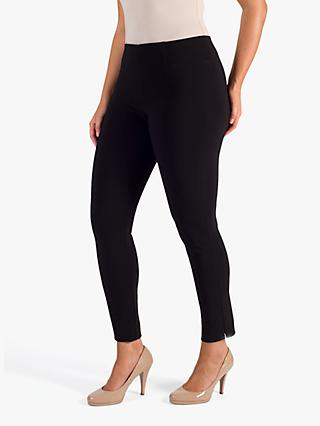 Chesca Slit Seam Detail Trousers, Black