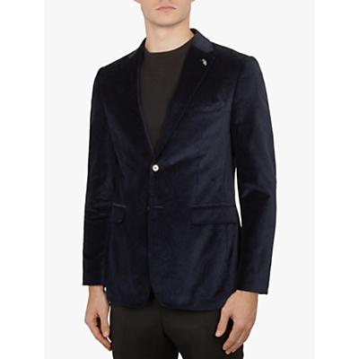 Ted Baker Gamma Paisley Velvet Blazer, Dark Blue