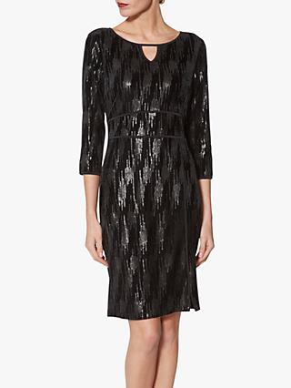 Gina Bacconi Mariam Sequin Velvet Dress, Black