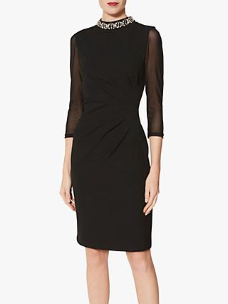 Gina Bacconi Shauna Crepe Dress, Black