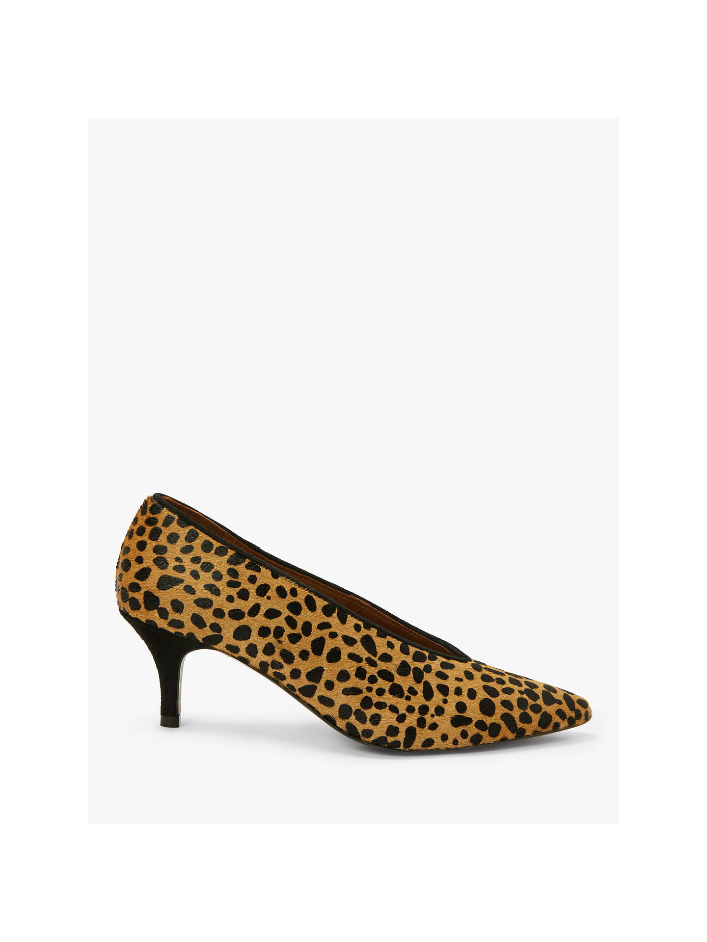 2a49ff6b7216 Buy AND/OR Avolene Kitten Heel Court Shoes, Leopard Leather, 4 Online at ...