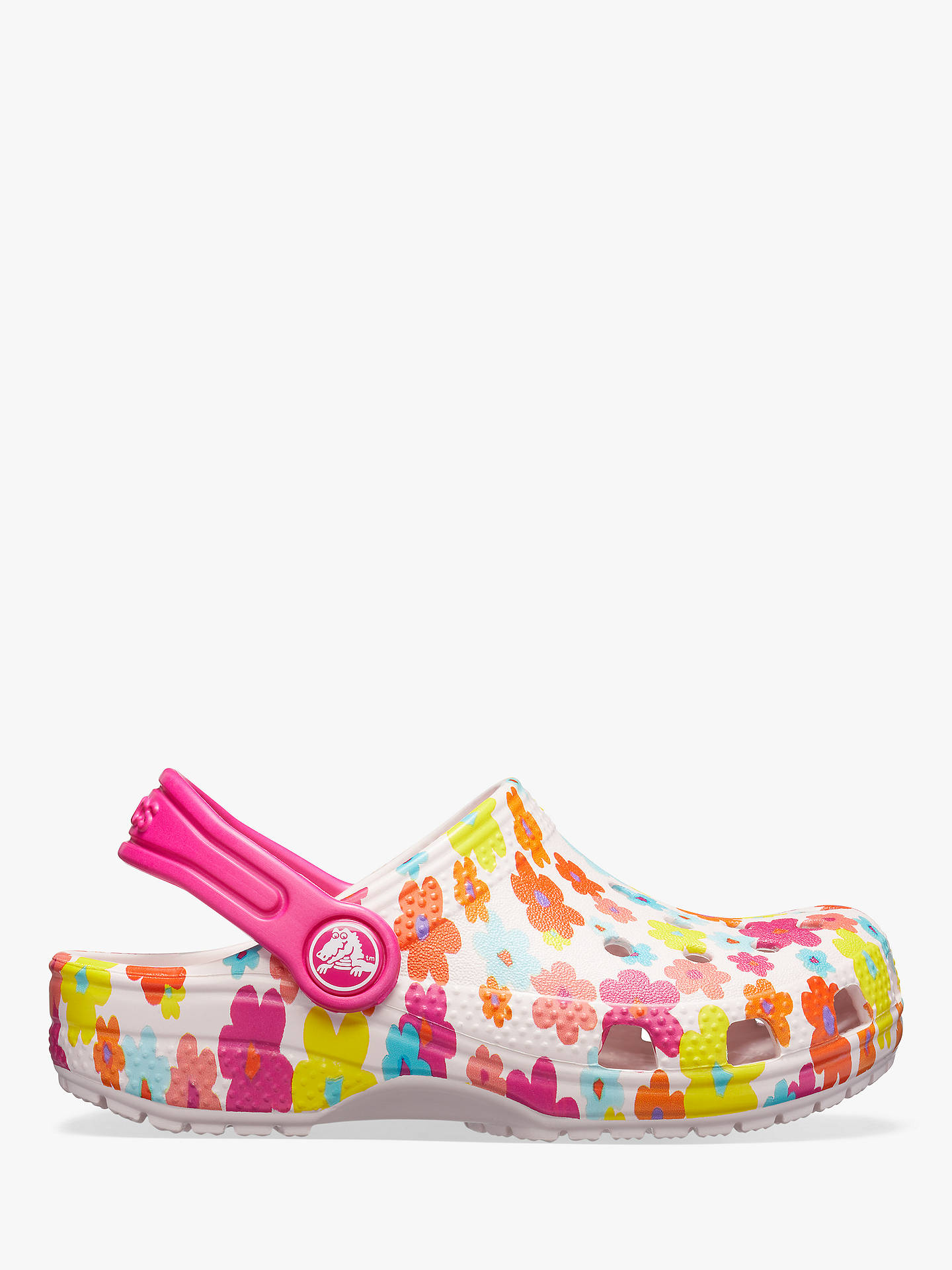 06f70c2a3a96c Buy Crocs Children's Classic Croc Floral Graphic Clogs, Barely Pink, 13 Jnr  Online at