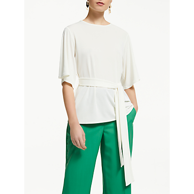 John Lewis & Partners Belted Crepe Top