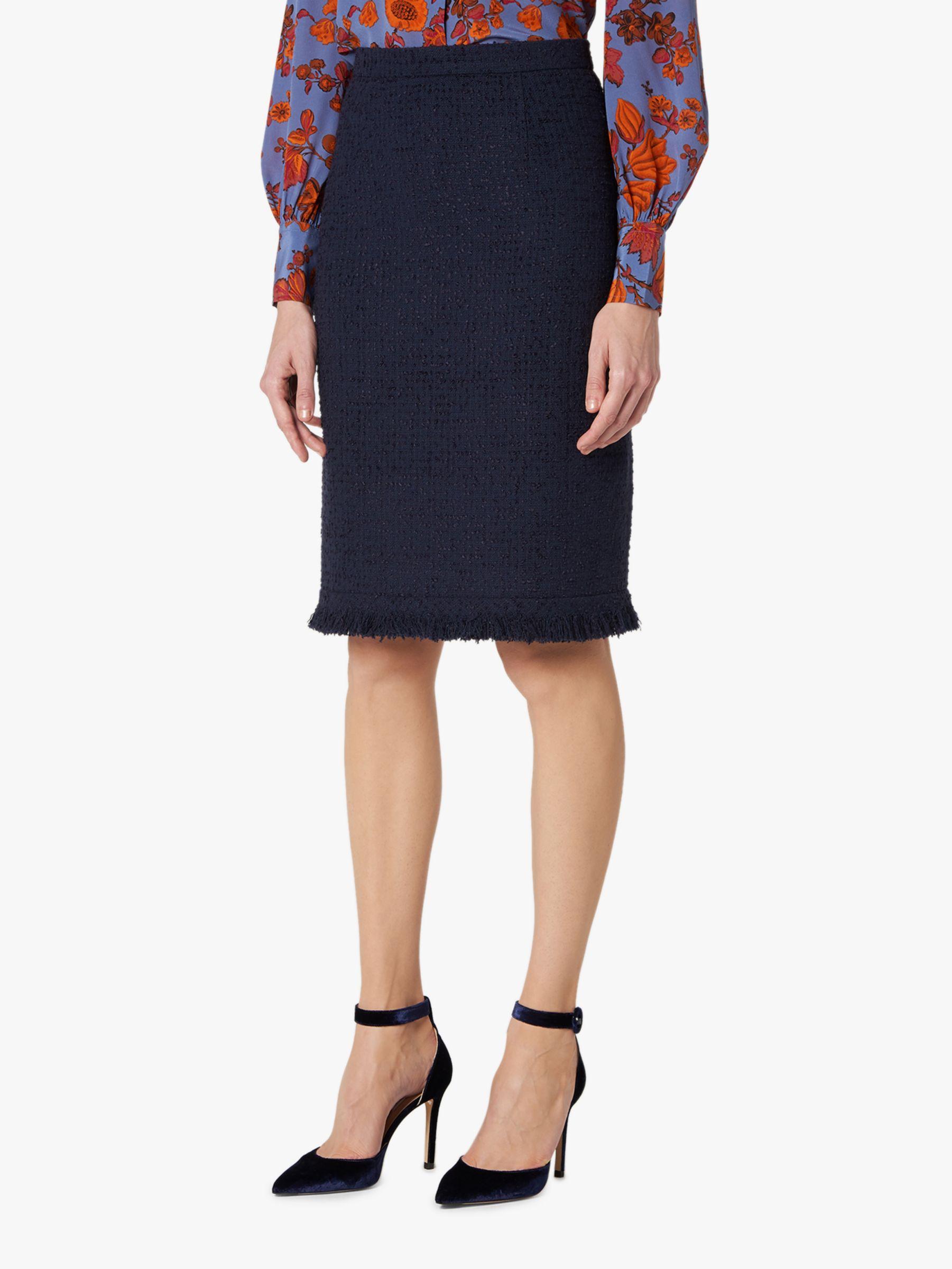 0725d64f53 L.K.Bennett Myia Tweed Skirt, Sloane Blue at John Lewis & Partners