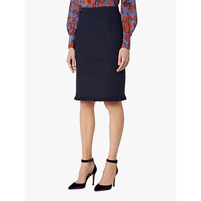 L.K.Bennett Myia Tweed Skirt, Sloane Blue