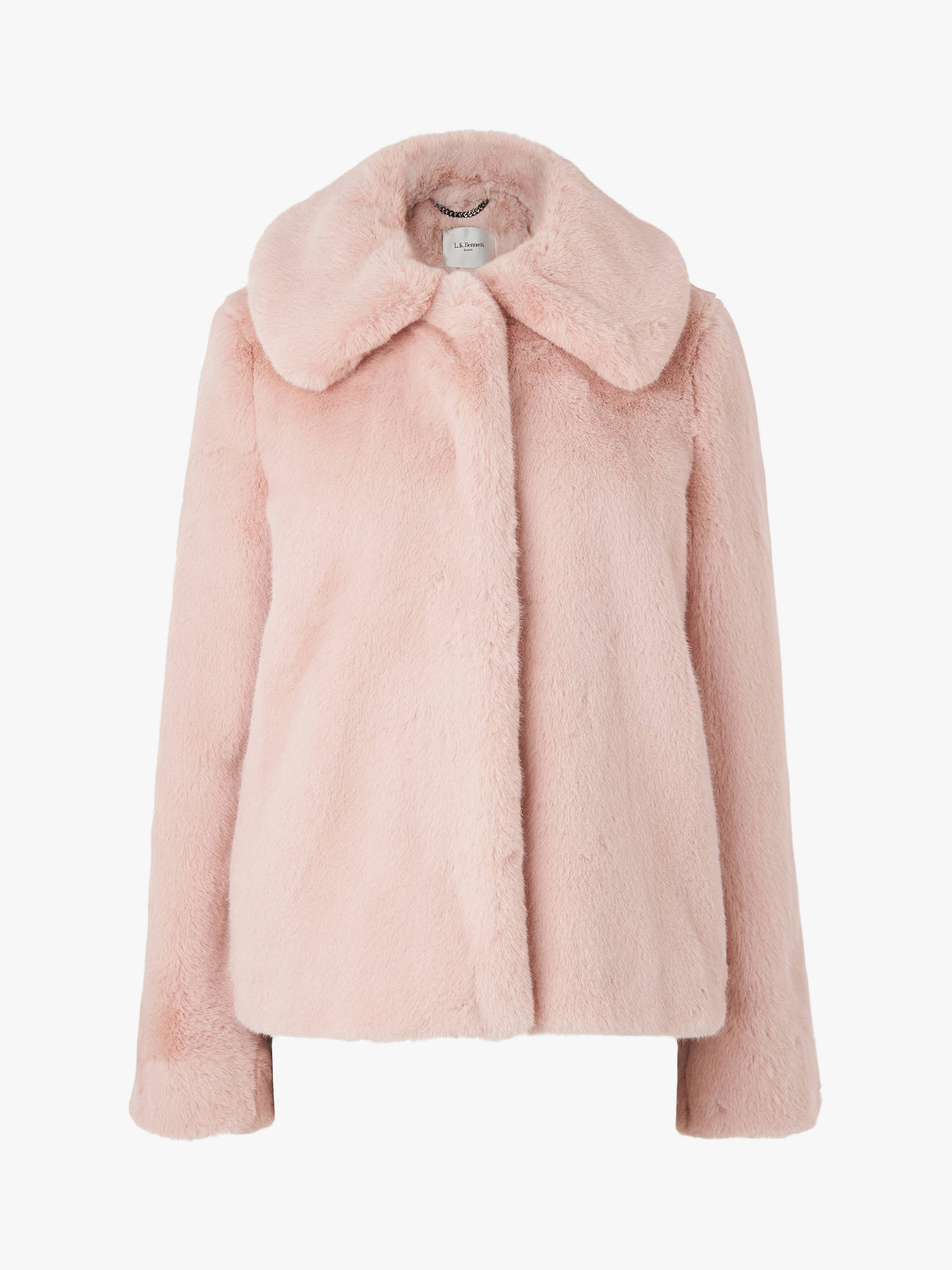 Buy L.K.Bennett Ivone Faux-Fur Coat, Ash Rose, 8 Online at johnlewis.com