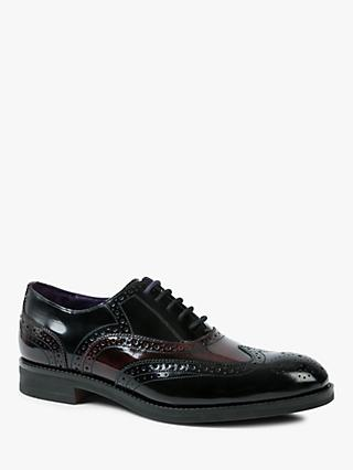 Ted Baker Admir Oxford Brogues, Dark Red/Black