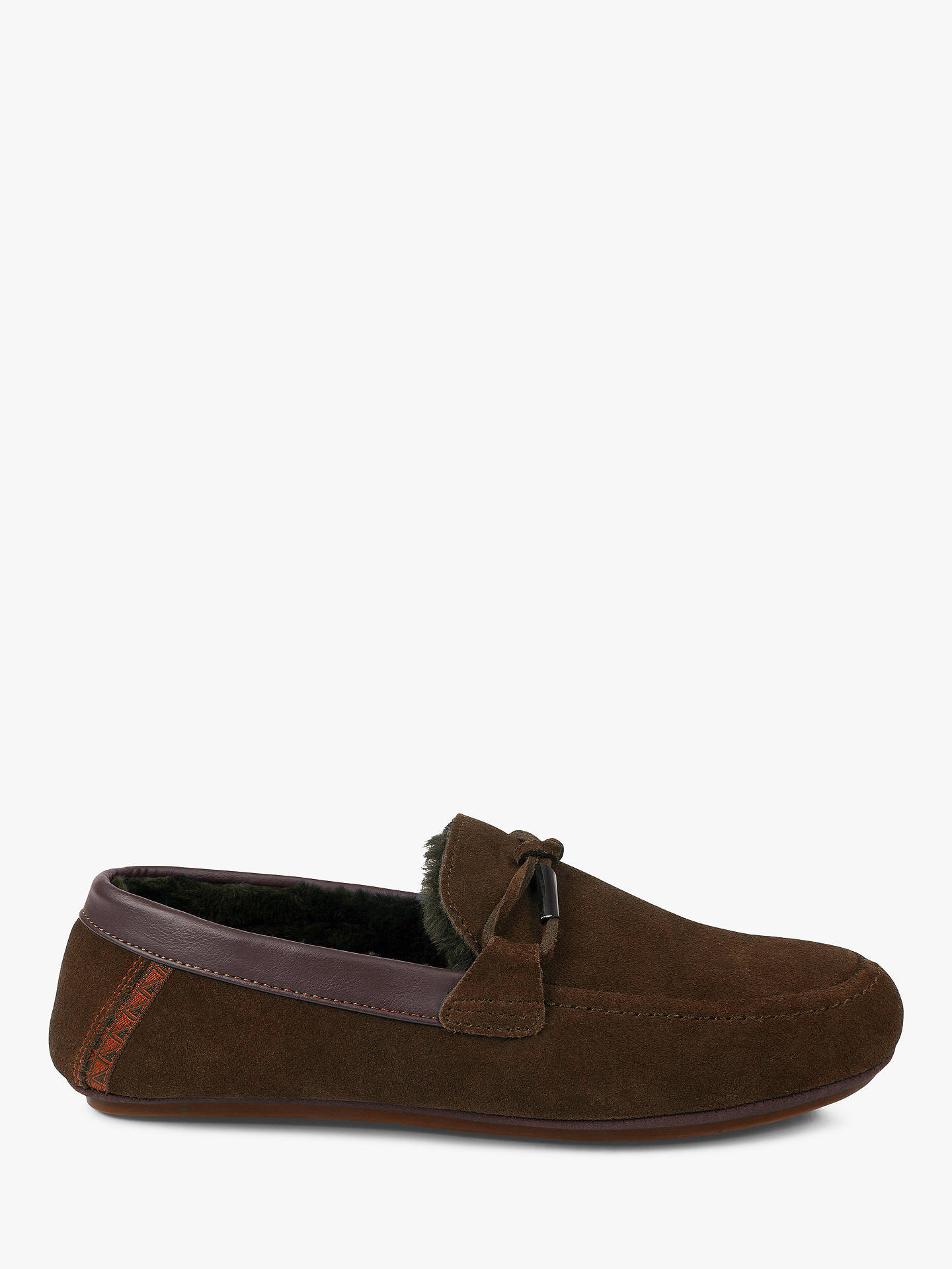 BuyTed Baker Valcent Mocassin Slippers, Brown, 7 Online at johnlewis.com
