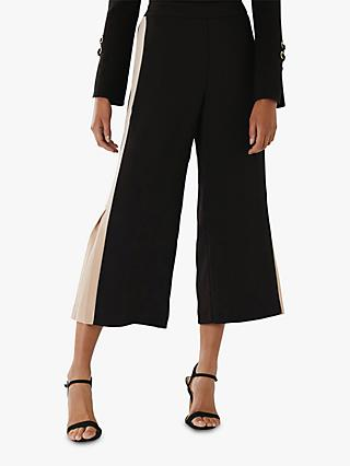 Coast Jourdan Wide Leg Jogger Trousers, Black