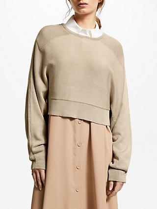 Modern Rarity J.JS Lee Cropped Jumper, Brown