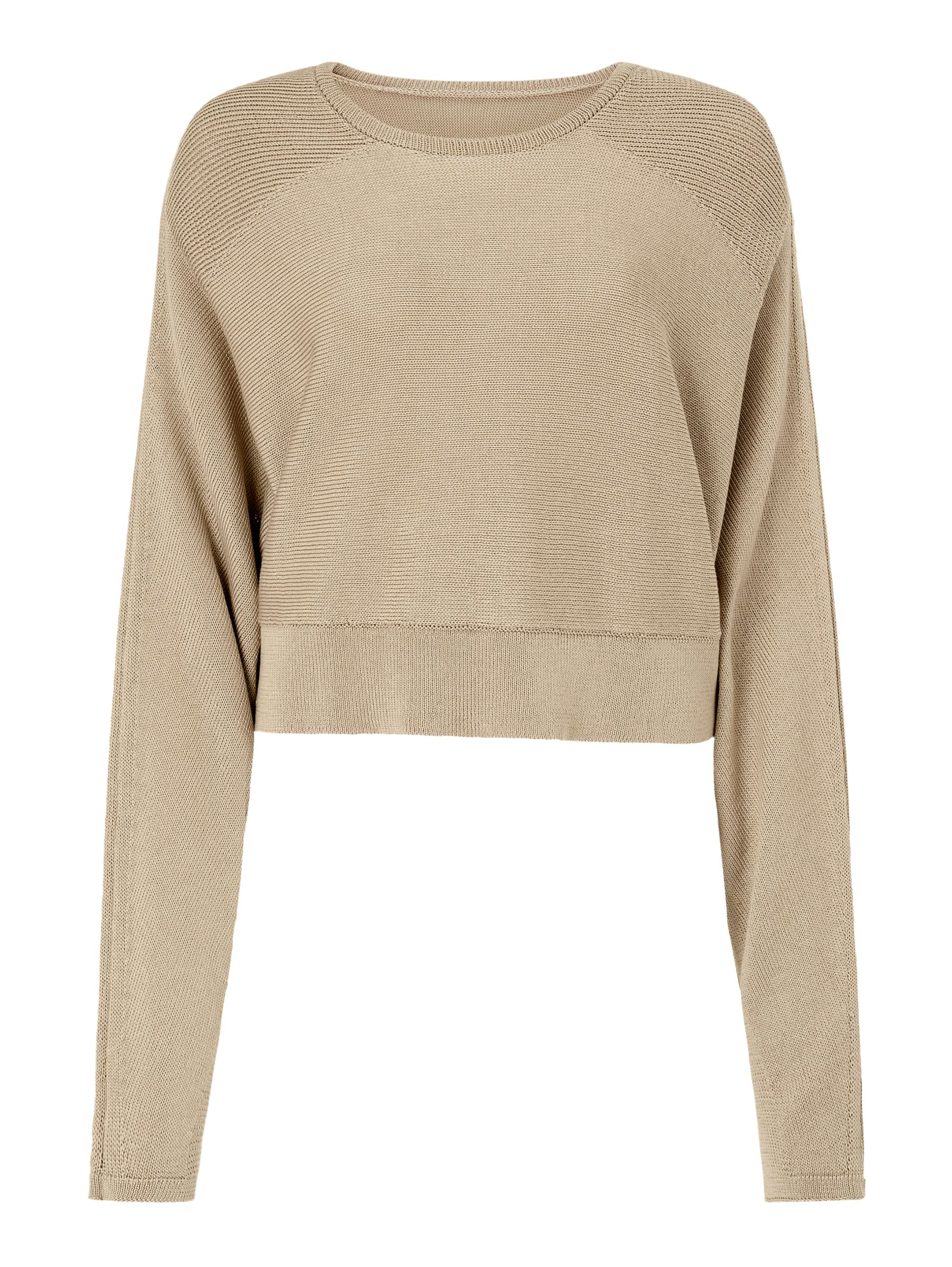 BuyModern Rarity J. JS Lee Cropped Jumper, Brown, XS Online at johnlewis.com