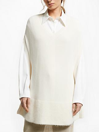 Modern Rarity J. JS Lee Knit Poncho, Cream