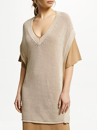 Modern Rarity J. JS Lee Open Knit Poncho, Gold