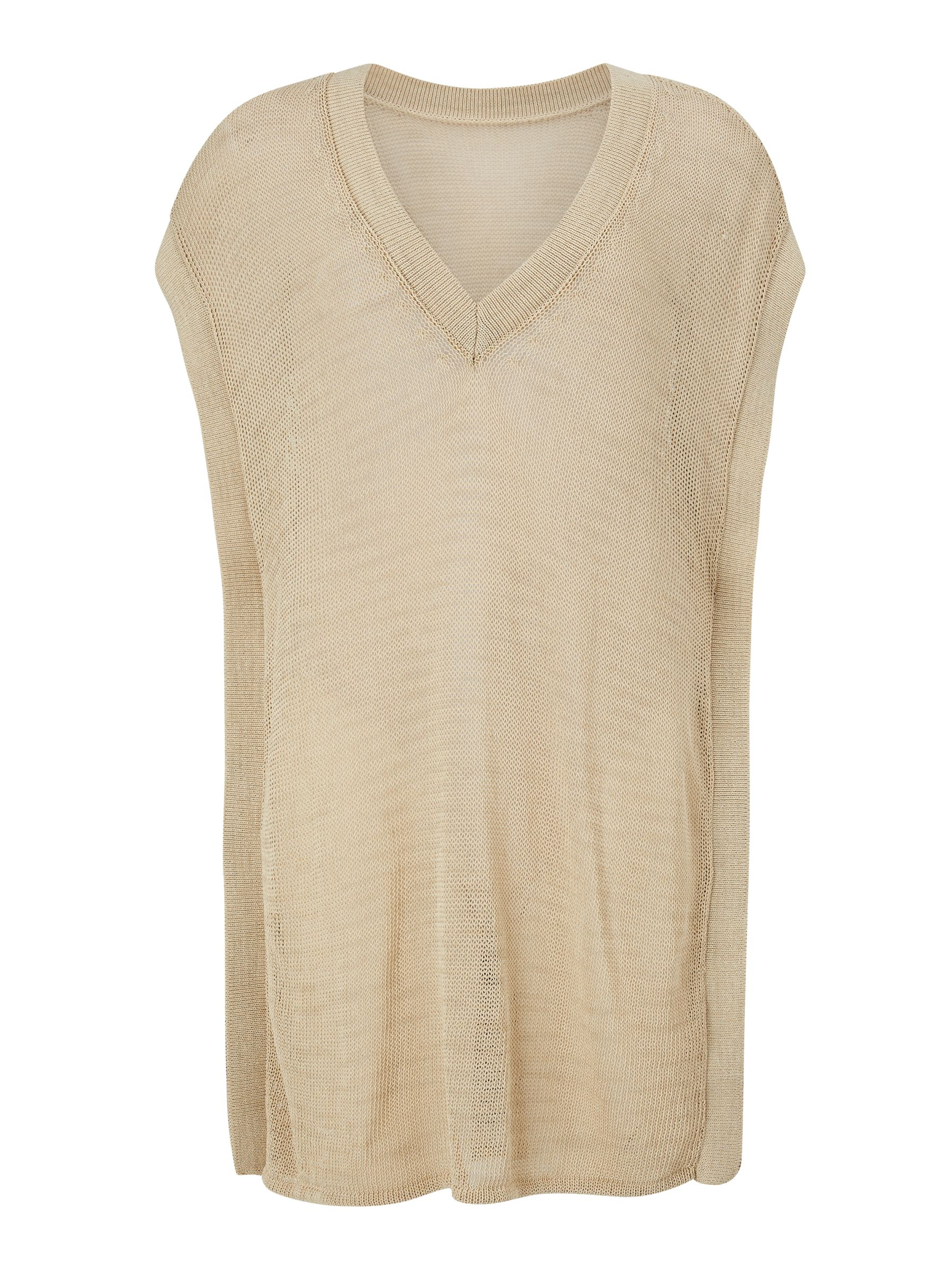BuyModern Rarity J. JS Lee Open Knit Poncho, Gold, L Online at johnlewis.com