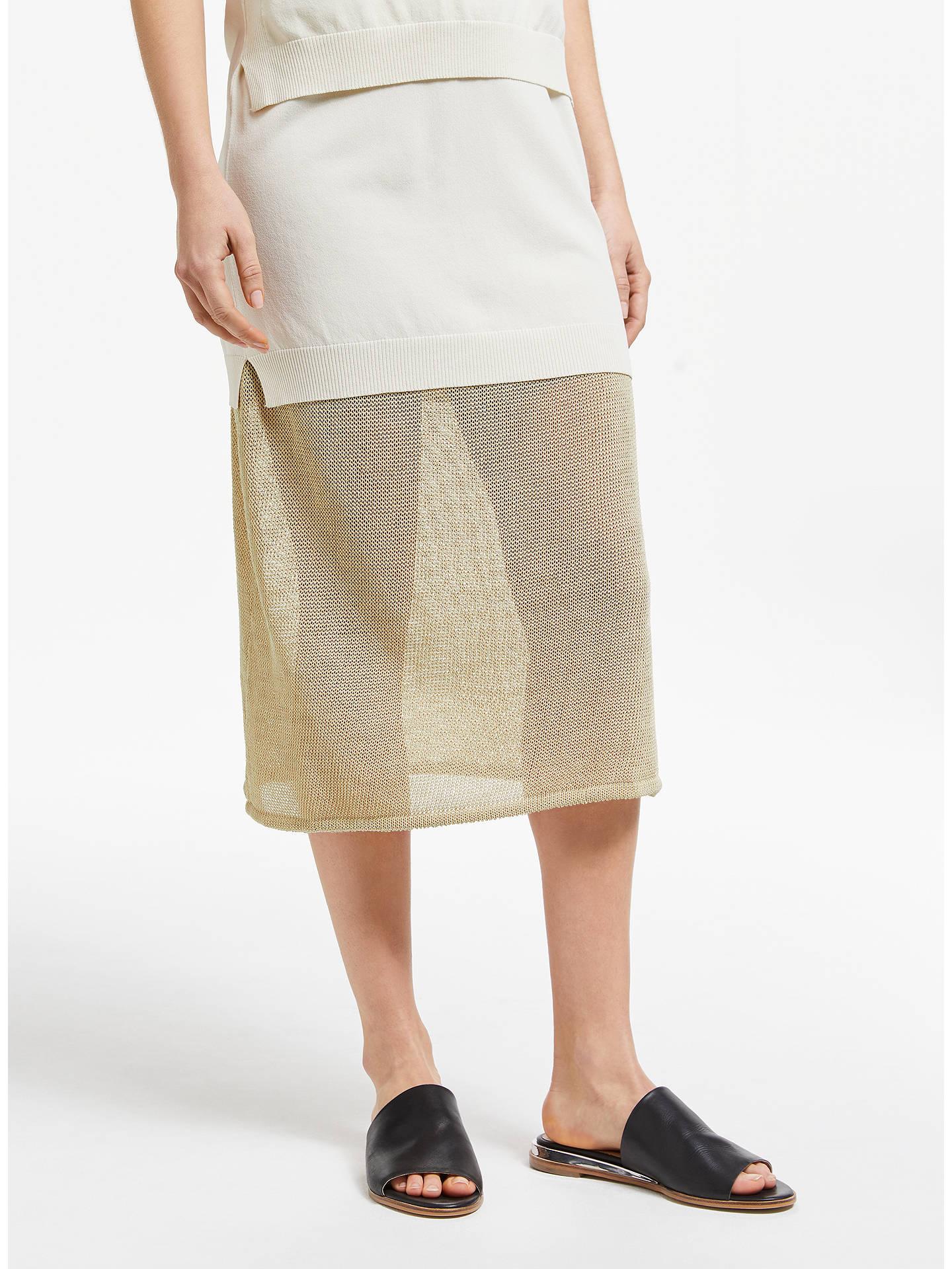 Modern Rarity J. Js Lee Open Knit Midi Skirt, Gold by Modern Rarity