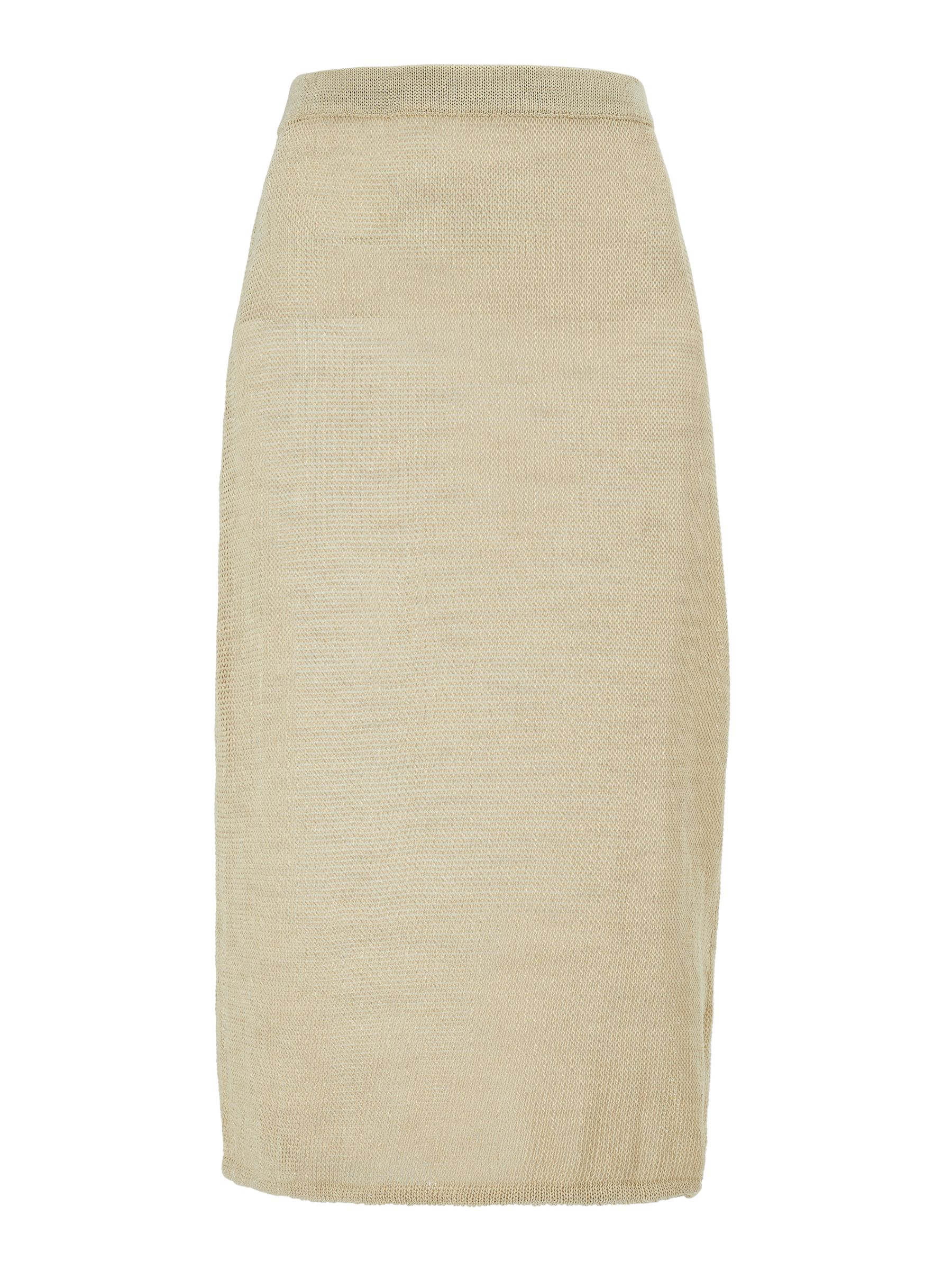 BuyModern Rarity J. JS Lee Open Knit Midi Skirt, Gold, 10 Online at johnlewis.com