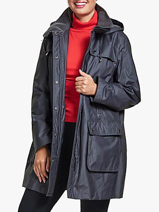 Four Seasons Wax Parka Jacket, Black Tulip