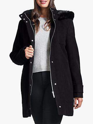 Four Seasons Faux Fur Hood Parka Coat