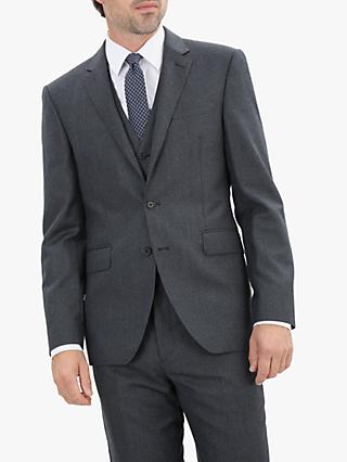 Jaeger Flannel Regular Fit Jacket, Charcoal