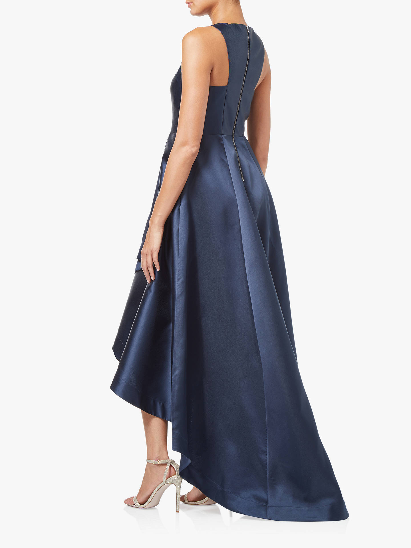 Buy Adrianna Papell Mikado A-Line Tafetta Dress, Midnight, 14 Online at johnlewis.com