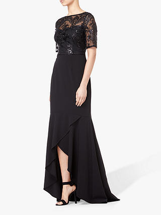Buy Adrianna Papell Petite Sequin Dress, Black, 6 Online at johnlewis.com