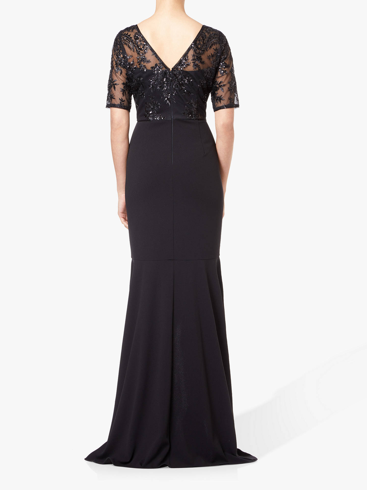 BuyAdrianna Papell Petite Sequin Dress, Black, 6 Online at johnlewis.com