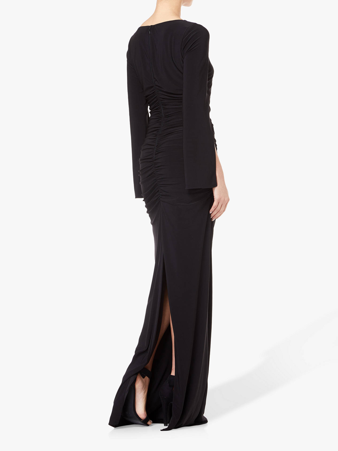 Buy Adrianna Papell Petite Long Dress, Black, 6 Online at johnlewis.com