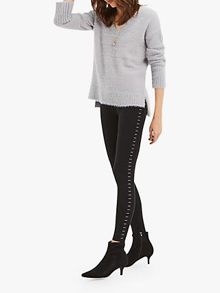 Oasis Studded Leggings, Black