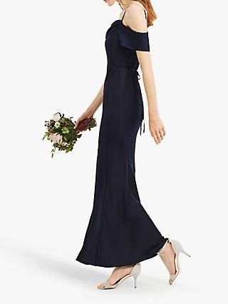 Oasis Amy Slinky Off Shoulder Slinky Maxi Dress