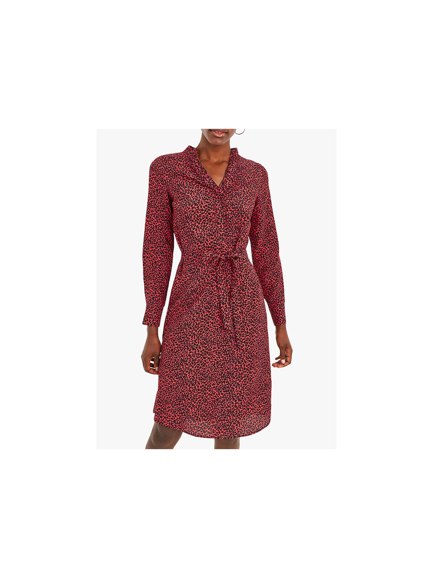 a3cbc6f516a Buy Oasis Animal Print Wrap Shirt Dress, Red/Black, 14S Online at johnlewis  ...