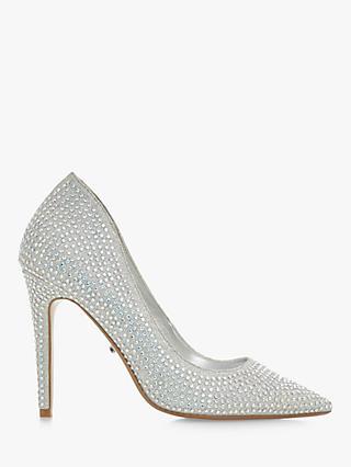 Dune Beverleyhills Rhinestone Embellished Court Shoes, Diamantes