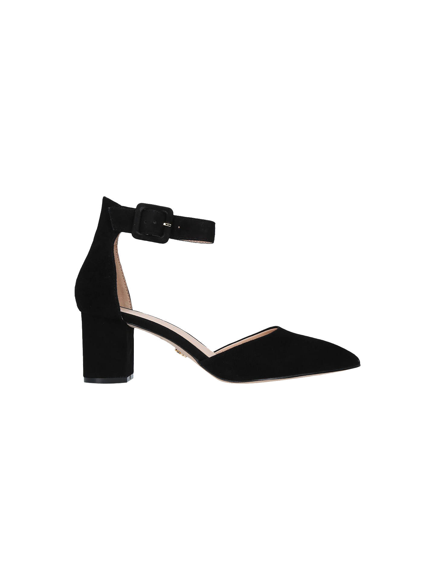 fae8581ffd Buy Kurt Geiger London Burlington Block Heel Court Shoes, Black Suede, 3  Online at ...