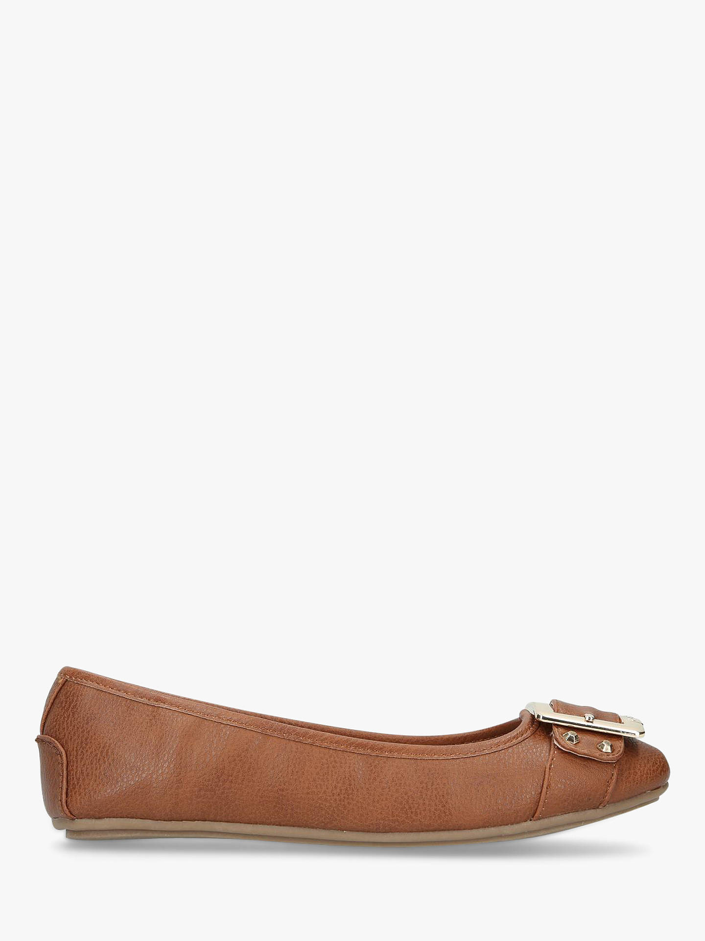 e553f917e Buy Carvela Mission Buckle Front Slip On Pumps, Tan, 3 Online at johnlewis.